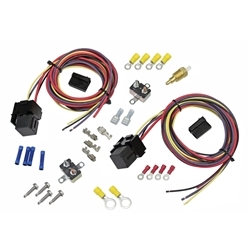 1967 1992 Dual Electric Fan Thermostat Relay And Wiring Kit
