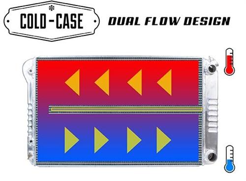 COLD CASE RADIATORS CHC547AK Silver 67-69 Camaro//Firebird LS Swap Radiator and16in Fan