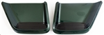 1993 - 1997 Firebird and Trans Am Hood Scoops, NOS, GM, Pair, Green