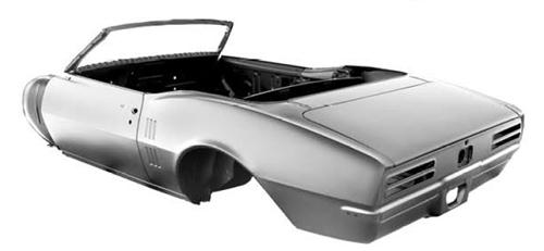 1967 Firebird Assembled Convertible Body Shell