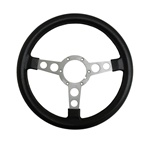 1969 - 1981 Firebird Formula Steering Wheel Early Edition Large Grip with Brushed Spokes and Black Padding