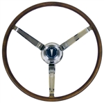 1967 Firebird Deluxe Wood Grain Steering Wheel Kit, OE Style