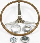 1968 Deluxe Woodgrain Steering Wheel Kit, OE Style