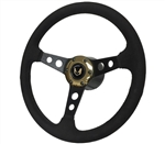1969 - 1981 Firebird Trans Am Custom Bandit Black and Gold Suede Steering Wheel Kit