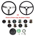 1967 - 1989 Firebird Custom Comfort Grip Steering Wheel Kit with Spoke Color and Custom Horn Cap Choices