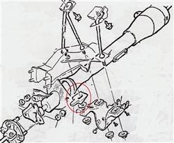 1967 - 1969 Steering Column Mounting Bracket Wedge / Shim