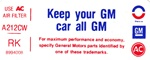 "1975 Air Cleaner Decal "" Keep Your GM All GM "" For 455 Models "" RK """