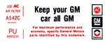 1976 Firebird Trans Am Keep Your GM Air Cleaner Decal, PU 8995235