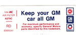 "1977 Air Cleaner Filter Service Instructions Decal  ""RD"""