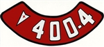Pontiac 400 4V Air Cleaner Breather Decal