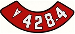 428 4V Air Cleaner Decal