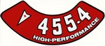 455 4V Pontiac High Performance Air Cleaner Decal