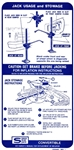 1968 Firebird Trunk Jacking Instructions Decal Convertible