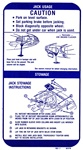1970 Firebird Trunk Deck Lid Jacking Instructions Decal, Later Production 481218