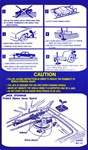 1975 Trunk Jacking Instructions Decal for Space Saver Spare Option