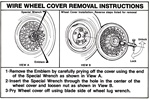 1984-1988 Pontiac Wire Wheel Hub Cap Instructions Trunk Decal