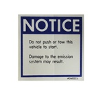 Glovebox Warning Notice Decal, Push Start, 360225