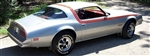 1976 - 1978 Firebird or Formula Roof and Side Stripe D98 Decal Kit