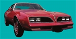 1978 - 1979 Firebird Esprit Red Bird Stripe Decal Kit