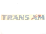 1973 - 1975 Trans Am Fender Decal with Clear Backing, Each