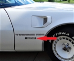 "1981 Trans Am Pace Car ""NASCAR"" Front Fender Decal"