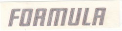 "1976 - 1977 "" Formula "" Front Bumper Nose Decal"