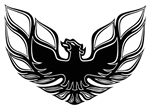 "1970-1975 Firebird Formula Rear Spoiler Bird Decal, 8.5"" Diameter"