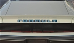 "1979 - 1981 "" Formula / Pontiac "" Rear Spoiler Decal Name"