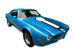 1970 - 1972 Trans Am Stripe Decal Kit, WHITE Stripes for a Blue Car