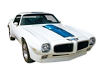 1970 - 1972 Trans Am Stripe Decal Kit, BLUE Stripes for a White Car