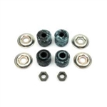 1967 - 1969 Firebird Rear Upper Shock Mounting Hardware Set: Bushings, Washers, and Nuts