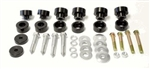 1974 - 1981 Firebird Solid Billet Aluminum Interloc Body Mount Bushings Set, Stock Height