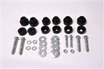 1970 - 1973 Firebird Subframe Body Mount Bushings Set, Self-Locking Interlock Style, Factory Height