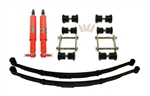 1967 - 1969 Firebird DSE Rear Speed Kit 1 Suspension Kit with Leaf Springs, Koni Classic Rear Shocks, and Heavy Duty Shackle Kit, Choose 2 or 3 Inch Drop