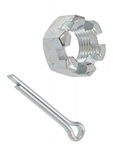 Lower Ball Joint Castle Nut with Cotter Pin