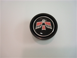 1969 Firebird Automatic Shifter Knob Insert Release Button Red and Black, OE Style