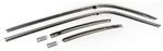 1968 - 1969 Firebird Roof Rail Weather Strip Channels Set, Stainless Steel