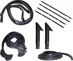 1982 - 1992 Firebird Rubber Weatherstrip Kit, Coupe Hardtop