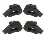 1982 - 1992 Firebird & Trans Am Hood Side Rubber Bumper Stopper Kit, 4 Piece Set 10017997