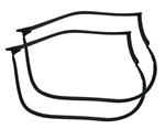 1993 - 2002 Firebird and Trans Am Door Frame Rubber Weatherstripping Coupe Hardtop, Pair