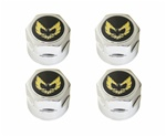 1979 - 1981 Firebird Center Caps Set of Four, Gold and Black Center