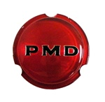 1967 - 1972 Rallye Wheel PMD Center Cap Insert, Red