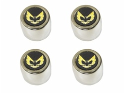 1977 - 1979 Pontiac Firebird and Trans Am Stainless Steel Center Cap Set with Gold Bird