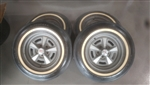 15 Inch Pontiac Rally Wheel Rims and Firestone White Wall Tires, Set of 4 GM Used