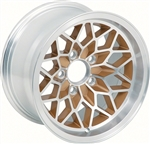 "1978 - 1981 15"" x 8"" Firebird Snowflake Gold Wheel, EACH"