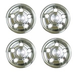 1967 - 1968 Polished Rally 1 Center Cap Set of 4