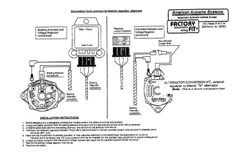Alternator Conversion Wiring Harness - Wiring Diagrams Entry on