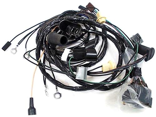 1968 firebird front headlight wiring harness, v8 with gauges 1970 Dodge Challenger Wiring Harness