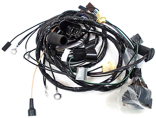 1967 rear body tail light wiring harness, convertible Firebird Wire Harness Firebird Wire Harness #11
