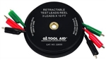 Retractable Test Lead Reel Wire with Alligator Clips, 3 Lead x 10'